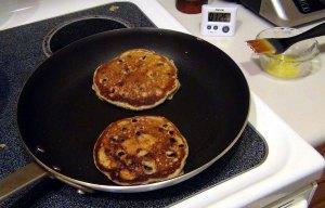 pancakes in the pan